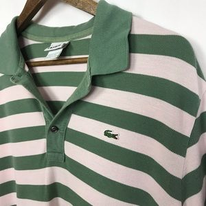 Lacoste Mens Striped Polo Shirt Size 6/Large